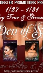 Den of Sin Book Blast & Giveaway : Step inside the sexy hotel & win a $15 GC